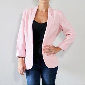 Joie Pink Linen Blazer
